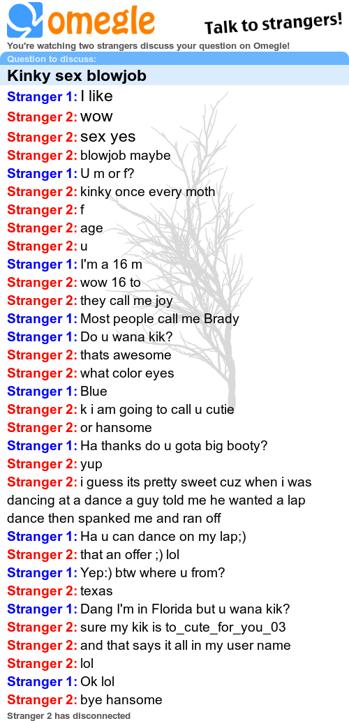 Sex chat omegle
